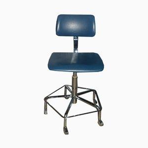 Verstellbarer Vintage Schreibtisch-Drehstuhl von Bremshey & Co.