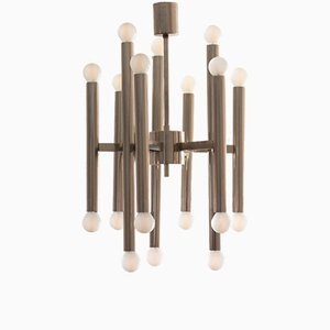 Belgian Nine-Arm Chandelier by Gaetano Sciolari for Boulanger, 1970s