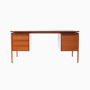 Dänischer Mid-Century Schreibtisch aus Teakholz mit schwebender Tischplatte von Gasvig