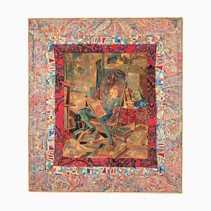 Late 19th Century Wall Hanging of Don Quixote by MS. Akke Reeskamp