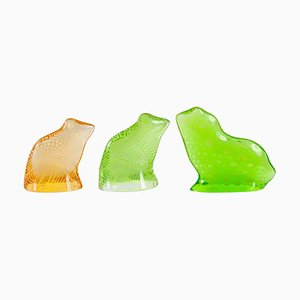 Mid-Century Lucite Frogs and Toad Set by Abraham Palatnik, 1960s
