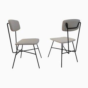 Mid-Century Italian Side Chairs, 1950s, Set of 2
