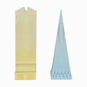Skyscraper Modelle von Johnny Dell'Orto für La Fabbrica di Dedalo, 1960er, 2er Set