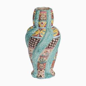 Grand Vase en Majolique Colorée par Kerima Gualdo T., Italie, 1960s