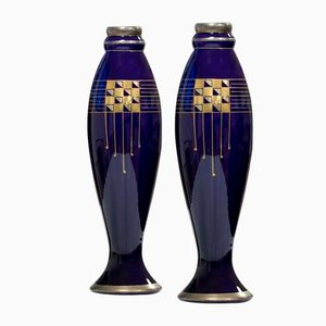 Art Deco Vases by Pinon Heuzé, 1930s, Set of 2