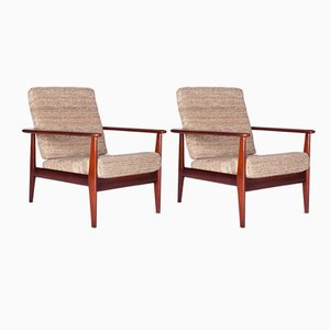 Danish Mahogany Armchairs, 1960s, Set of 2