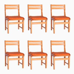 Vintage Dining Chairs by Guillerme et Chambron for Votre Maison, Set of 6