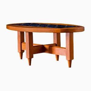 French Oak Coffee Table by Guillerme et Chambron for Votre Maison, 1965