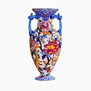 Vintage Peonies Vase by Gien, 1960s