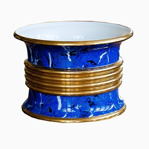 Lapis & Gold Cache-Pot by Christian Dior, 1980s