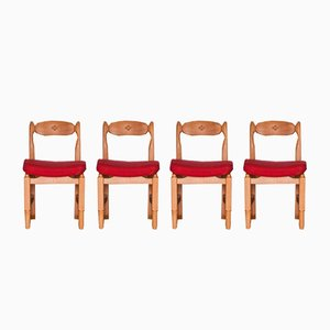 Chairs by Guillerme et Chambron, 1965, Set of 4