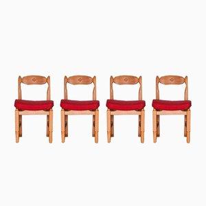 Stühle von Guillerme et Chambron, 1965, 4er Set