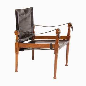 Mid-Century Safari Chair by M. Hayat & Brothers, 1970s