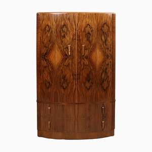 Walnut Art Deco Wardrobe, 1930s