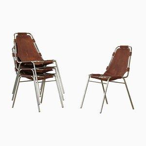 Les Arcs Stühle von Charlotte Perriand, 1970er, 4er Set