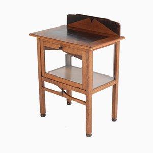Mueble para el té Escuela de Ámsterdam Art Déco de roble, ébano y chapa, años 20