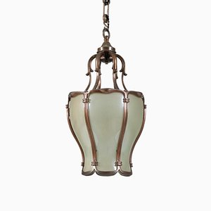 Neo-Classical French Bronze Hall Lamp or Lantern, 1930s