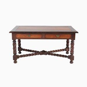 Antiker Schreibtisch aus Messing und Padouk im jakobinischen Stil