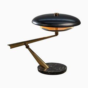 Italienische Tischlampe mit Marmorfuß von Lumen, 1950er