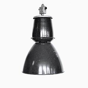Lámpara colgante Mid-Century de metal esmaltado, años 60