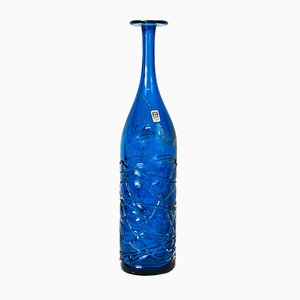 Tall Textured Glass Vase by Michael Harris for Mdina, 1970s