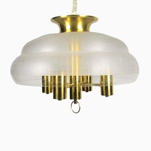 Hollywood Regency Style Brass Pendant Light, 1970s