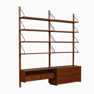 Danish Teak Wall Unit, 1960s