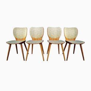 Vintage Esszimmerstühle von Max Bill für Baumann, 1950er, 4er Set