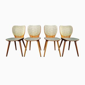 Vintage Model 800 Dining Chairs by Max Bill for Baumann, 1950s, Set of 4