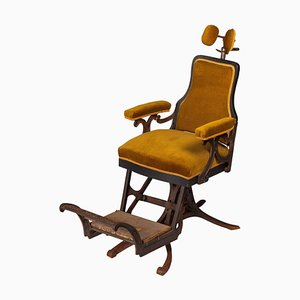 Antique French Dentist Chair by Louis Alexandre Billard, 1890s