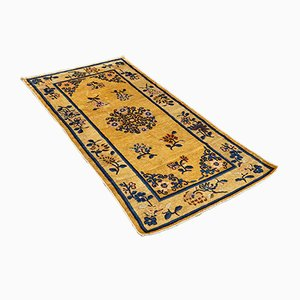 Antique Chinese Hand-Knotted Wool Rug, 1900s