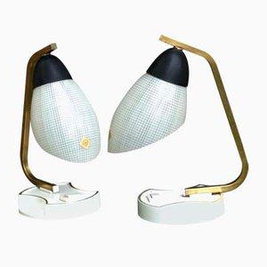 Tischlampen von Doria Leuchten, 1950er, 2er Set