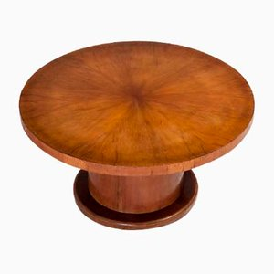 Round Art Deco Adjustable Pedestal Dining Table
