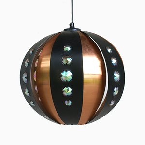 Scandinavian Modern Copper P32 Ceiling Lamp from Coronell Elektro, 1973