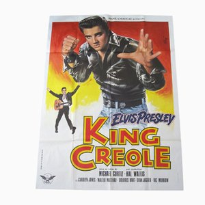 French King Creole Elvis Movie Poster, 1978
