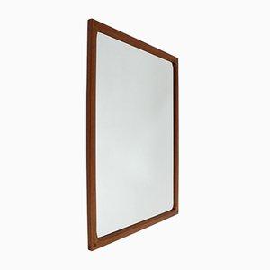 Specchio in teak di Aksel Kjersgaard per Odder Mobler, anni '60