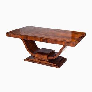 Tavolo da pranzo Art Déco in legno Macassar, Francia, anni '30