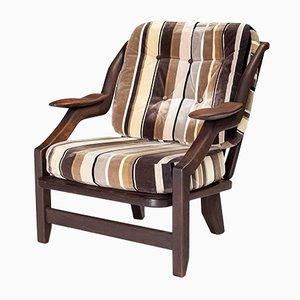 Oak Armchair by Guillerme et Chambron for Votre Maison, 1960s