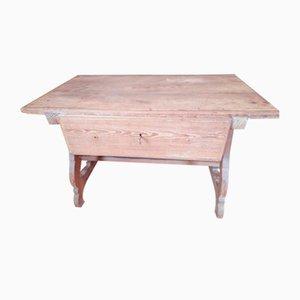 Tavolo in pino canadese, XIX secolo