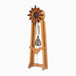 Reloj de pie francés de roble de Guillerme et Chambron para Votre Maison, años 60