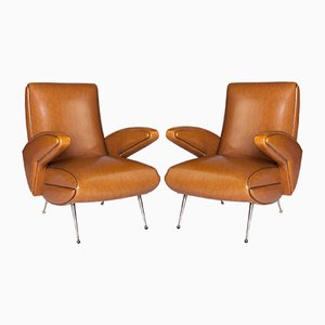 French Lounge Armchairs, 1960s, Set of 2