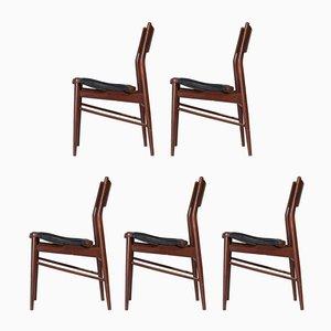 Chaises d'Appoint Vintage, 1960s, Set de 5