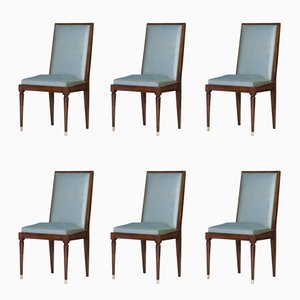 Art Deco Side Chairs, 1940s, Set of 6