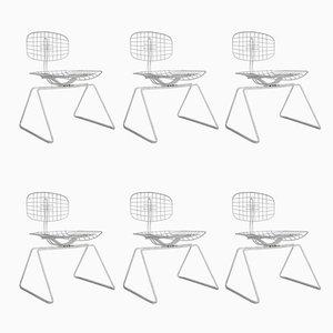 Chaises d'Appoint Vintage par Michel Cadestin, Set de 6