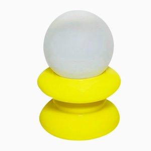 Lampada da tavolo modernista gialla di Mazzega, Italia, anni '60