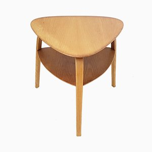 Mid-Century French Beech Bow Wood Side Table from Steiner, 1950s