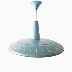 Vintage Blue-Lacquered Steel Ceiling Light by Louis Kalff for Philips, 1950s