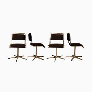 Deutsche Esszimmerstühle von EKA, 1970er, 4er Set