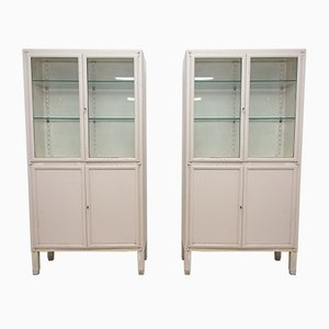 Vintage Medical Cabinets, 1950s, Set of 2