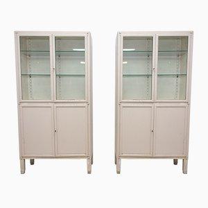 Vintage Medical Cabinets, 1950s, Set of 2
